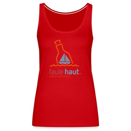 Logo faulehaut hoch bright - Frauen Premium Tank Top