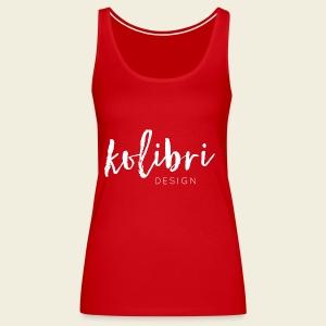 Logo Kolibri Design weiss - Frauen Premium Tank Top