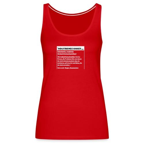 Industriemachaniker Defintion - Frauen Premium Tank Top