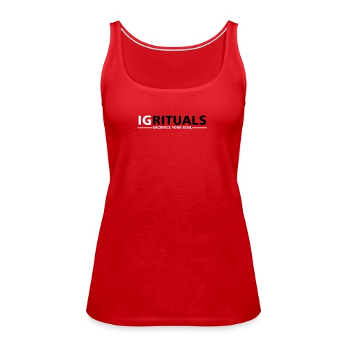 ig rituals text black and white - Women's Premium Tank Top