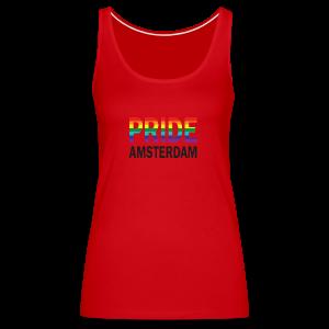 Pride Amsterdam in regenboog kleur en zwart - Vrouwen Premium tank top