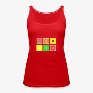DIGITAL FRUITS - Pixel Frucht - Frauen Premium Tank Top