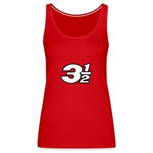 Three and a Half Logo - Women's Premium Tank Top