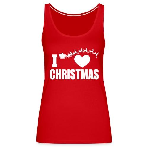 I Love Christmas Heart Natale - Canotta premium da donna