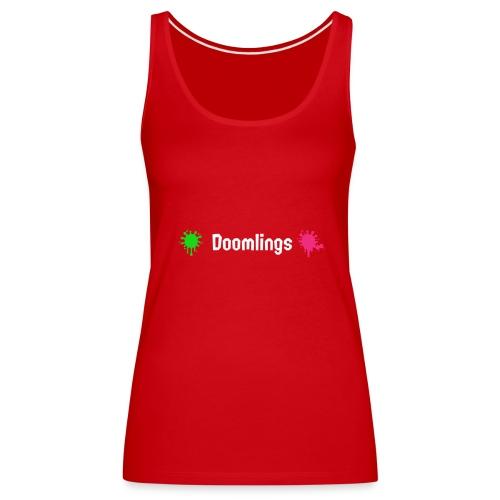 Doomlings Splat Banner - Women's Premium Tank Top