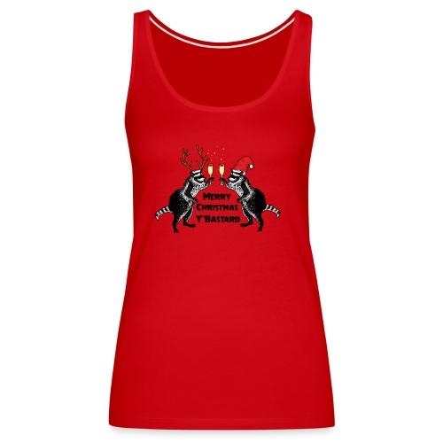 Xmas Raccoons - Women's Premium Tank Top
