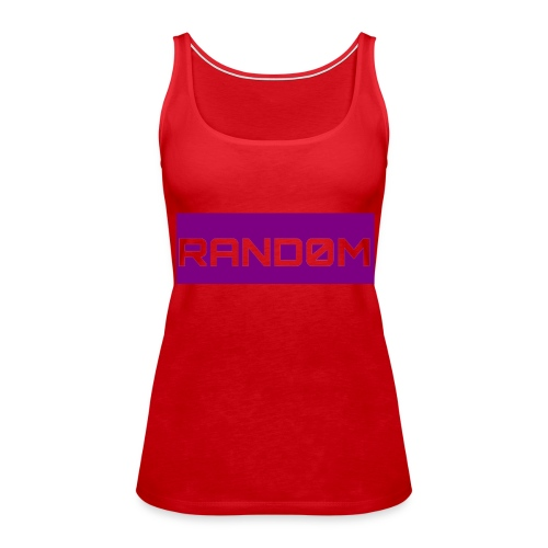RAND0M SMALL LOGO - Women's Premium Tank Top