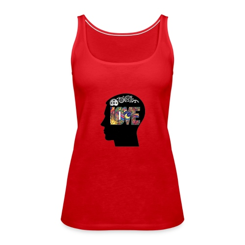 Love in my head - Vrouwen Premium tank top