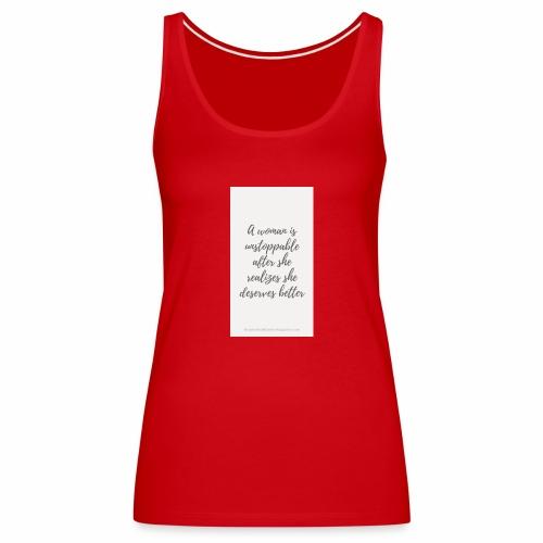 To boost self esteem in women - Women's Premium Tank Top