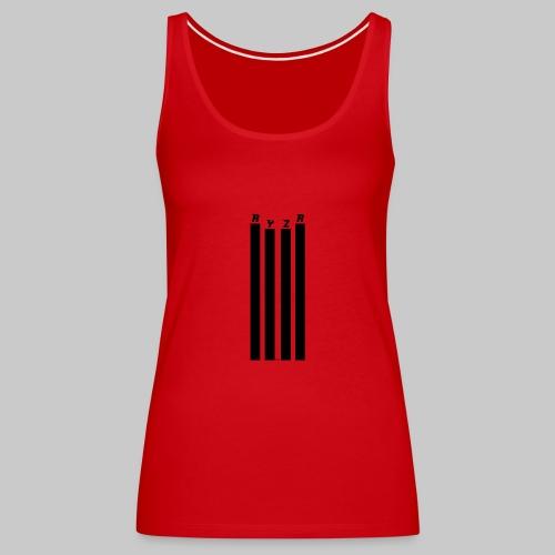 rayzor streifen logo - Frauen Premium Tank Top