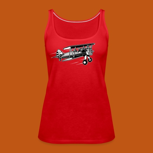 Flieger / Airplane 01_schwarz weiß - Frauen Premium Tank Top