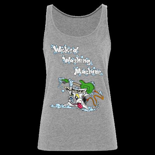 Wicked Washing Machine Cartoon and Logo - Vrouwen Premium tank top