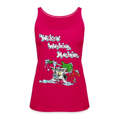 Wicked Washing Machine Cartoon and Logo - Vrouwen Premium tank top
