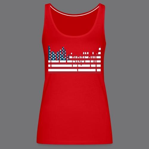 USA FLAG Tee Shirts - Women's Premium Tank Top