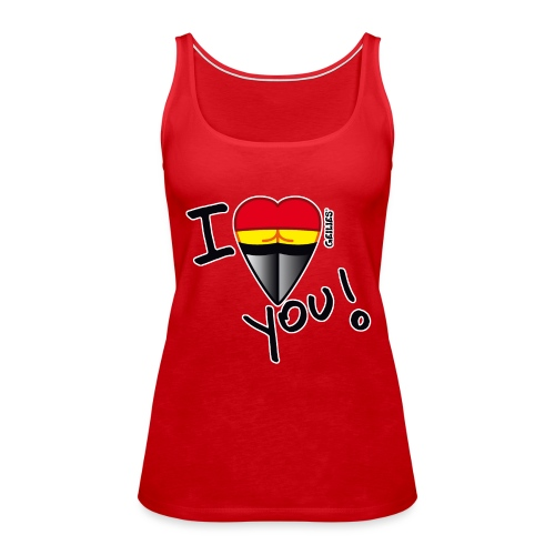 T-Shirt_I love_outline.png - Frauen Premium Tank Top