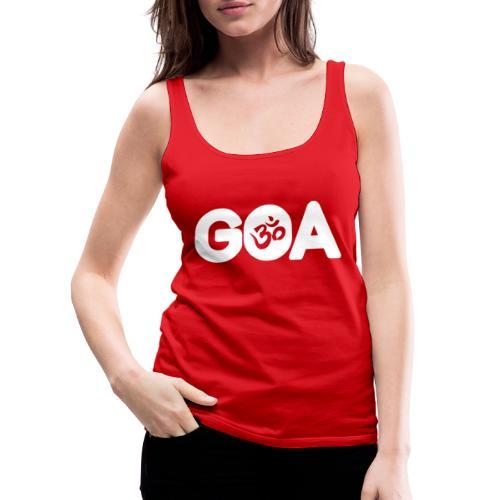 GOA LOGO WHITE - Frauen Premium Tank Top