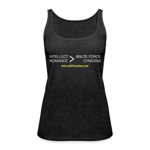 shirt intellect white - Women's Premium Tank Top