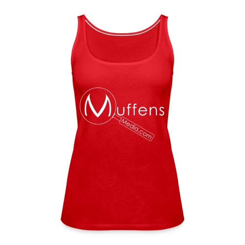 Muffens Media hvit logo - Women's Premium Tank Top