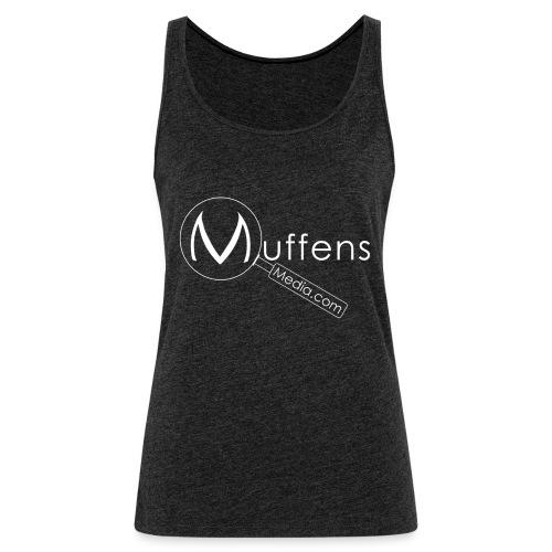 Muffens Media hvit logo - Women's Premium Tank Top