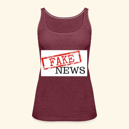 fake news - Women's Premium Tank Top