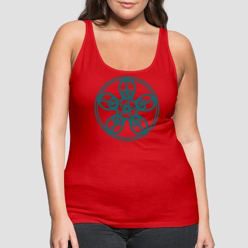 Treble Clef Mandala (teal) - Women's Premium Tank Top