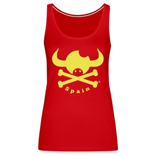 DISEÑO QUIJOTES BASICO AMARILLO SPAIN - Camiseta de tirantes premium mujer