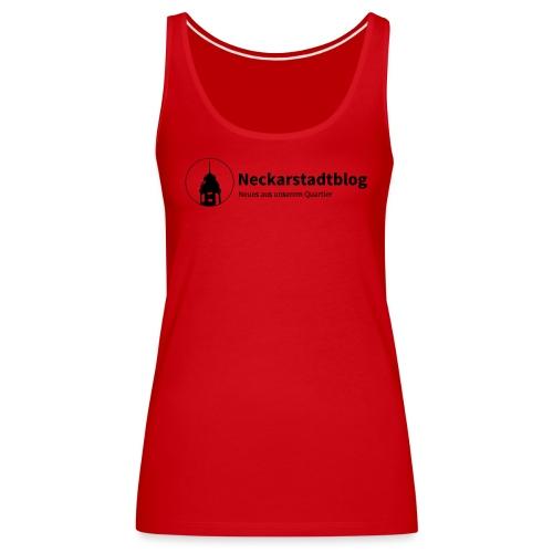 Neckarstadtblog Logo & Claim - Frauen Premium Tank Top