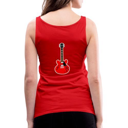 Guitare dos / Vully Blues classique poitrine - Frauen Premium Tank Top