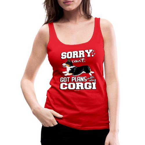 corgiplans9 - Naisten premium hihaton toppi