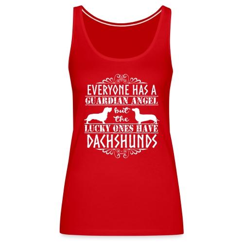 Dachshund WH SH Angels2 - Women's Premium Tank Top