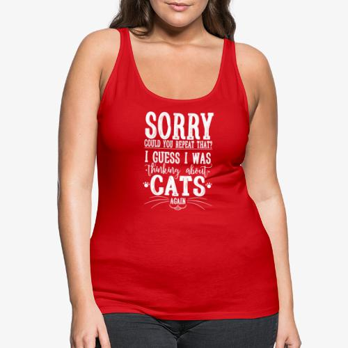 Sorry Cats II - Naisten premium hihaton toppi