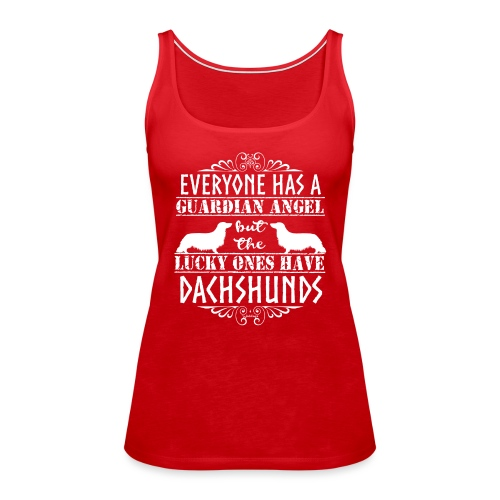 Dachshund LH Angel2 - Women's Premium Tank Top