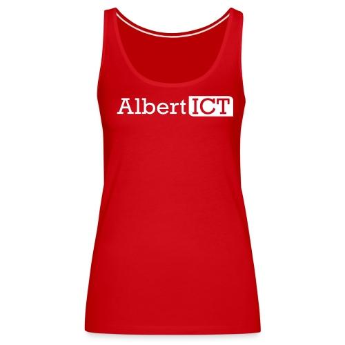 AlbertICT wit logo - Vrouwen Premium tank top