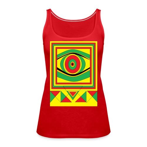 ALL seeing eye RASTA burn down babylon Original - Vrouwen Premium tank top