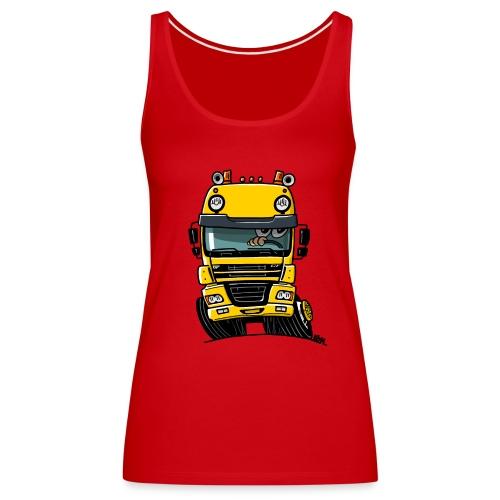 0810 D truck CF geel - Vrouwen Premium tank top