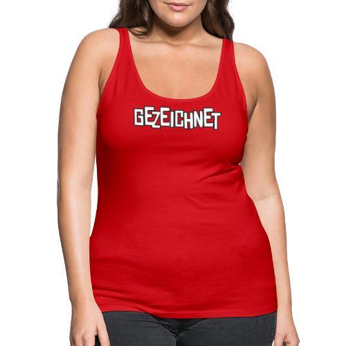 Gezeichnet Logo Weiss auf Transparent gross - Frauen Premium Tank Top