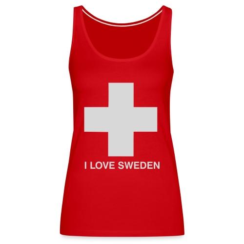 I LOVE SWEDEN - Frauen Premium Tank Top