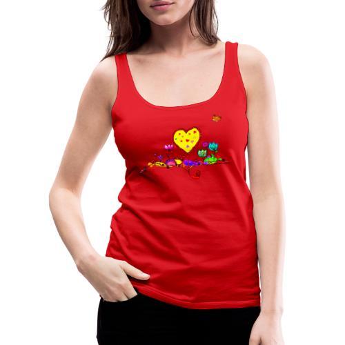 Blumengruß mit Herz - Frauen Premium Tank Top