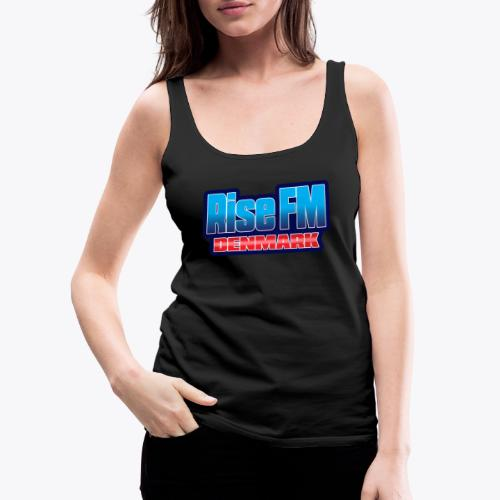 Rise FM Denmark Text Only Logo - Women's Premium Tank Top