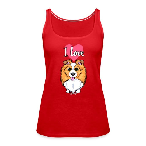 Sheltie Dog Love 2 - Women's Premium Tank Top