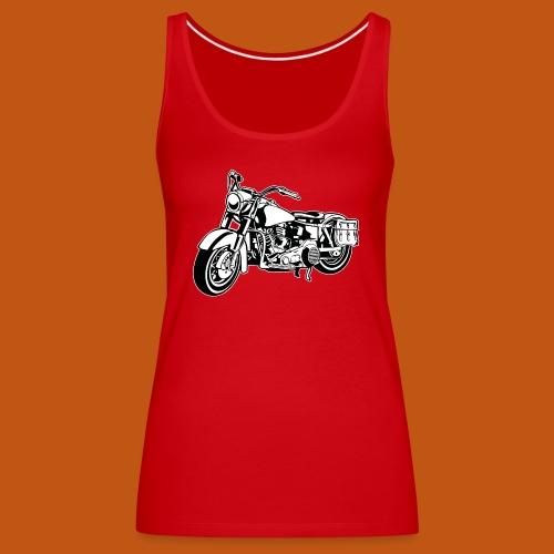 Chopper Motorrad 10_schwarz weiß - Frauen Premium Tank Top