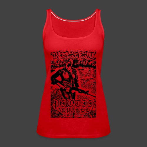 PICTRESIST4 - BLACK - Women's Premium Tank Top