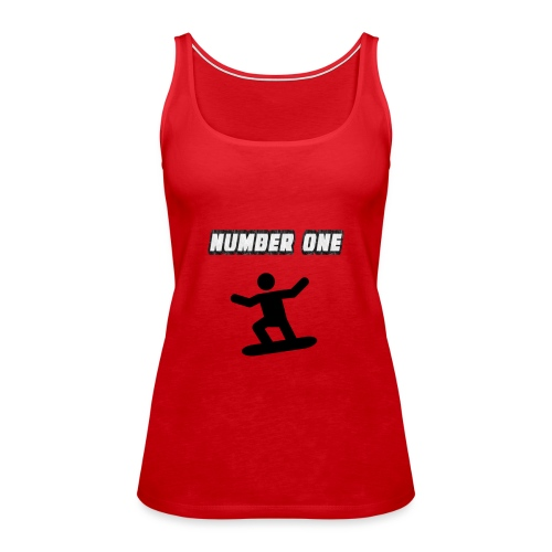 Number One Snowboarder - Women's Premium Tank Top