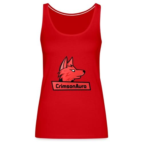 CrimsonAura Logo Merchandise - Women's Premium Tank Top