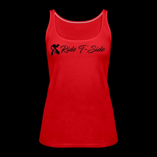 Ride T-Side - Logo and Text - Black - Women's Premium Tank Top