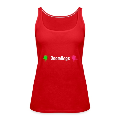 Doomlings Splat Banner - Women's Premium Tank Top