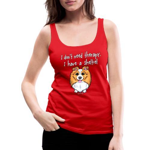 Sheltie Dog Therapy 2 - Naisten premium hihaton toppi