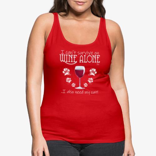 Wine Alone Cat III - Naisten premium hihaton toppi