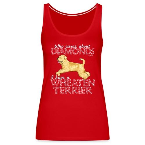 Wheaten Terrier Diamonds 3 - Women's Premium Tank Top