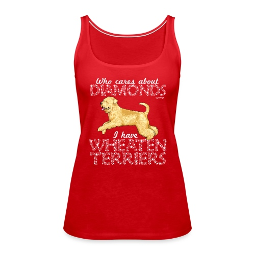 Wheaten Terrier Diamonds 2 - Women's Premium Tank Top